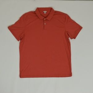Calvin Klein Regular XL Orange   Polo Cotton Solid